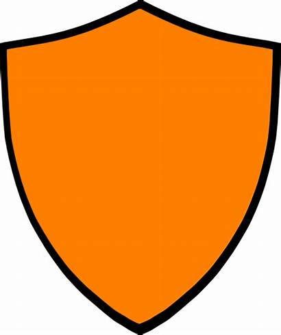 Shield Orange Clip Clipart Clker Vector