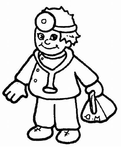 Doctor Coloring Pages Clipart Community Helpers Equipment