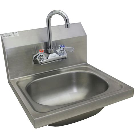 stainless wall mount sink stainless steel wall mount hand sink w no lead faucet and