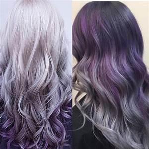 Best 20 Purple Grey Hair Ideas On Pinterest Of Hair Color ...