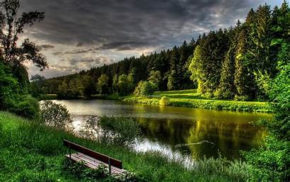Nature Backgrounds Lake Natural Landscape Wallpapers Forest