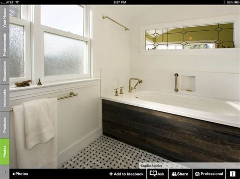 bathtub tub tub surround reclaimed wood bathroom design ideas