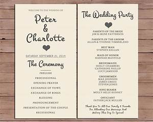 wedding program order of service by darlingpapercompany on With order of service for a wedding ceremony