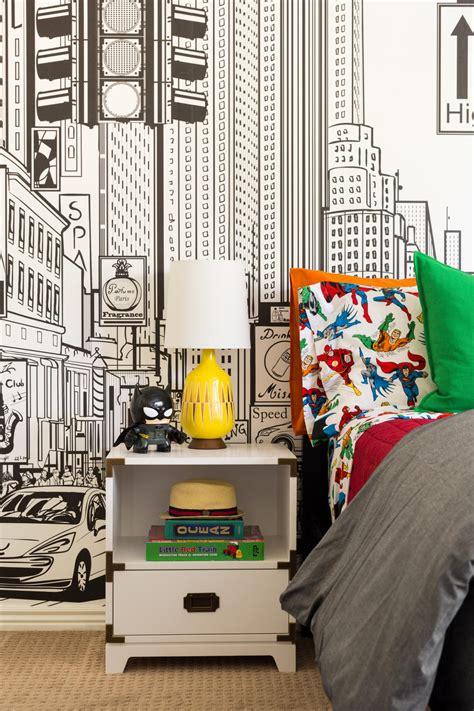 superhero themed kids room  knock  socks