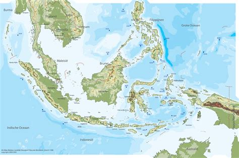 indonesia physical map mapsofnet