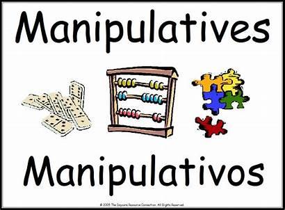 Classroom Center Printable Preschool Signs Spanish Manipulatives