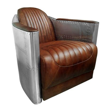 fauteuil aviateur cuir marron vintage maisons du monde
