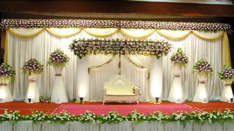 simple wedding decoration american simple wedding stage