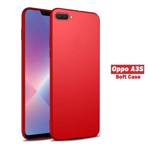 oppo a3s soft silicone casing for oppo a3s slim matte cover shopee malaysia