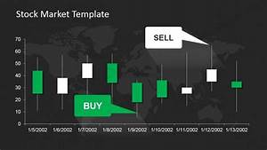candlestick chart with black background slidemodel With stock market ppt templates free download