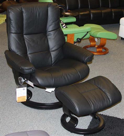 stressless mayfair medium black leather recliner