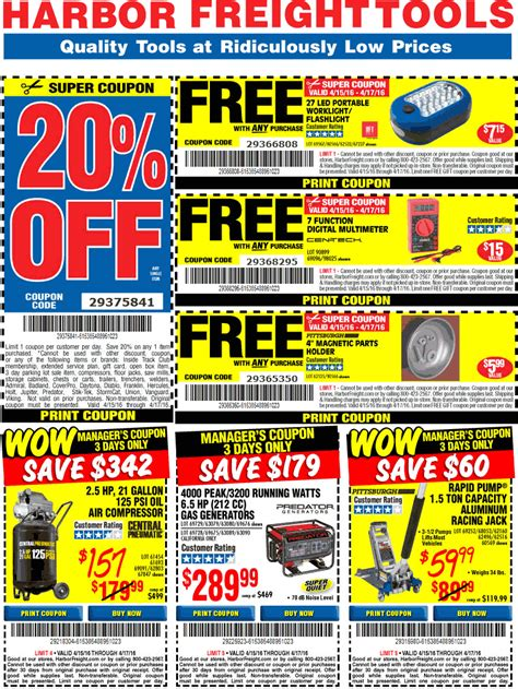 harbor freight august  coupons  promo codes