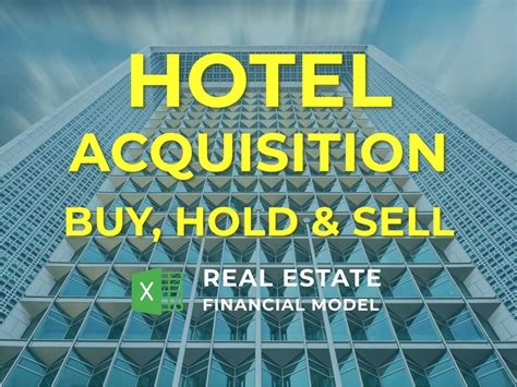 hotel acquisition financial model excel template buy