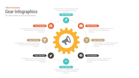 infographic template powerpoint free gear infographics free powerpoint and keynote template slidebazaar
