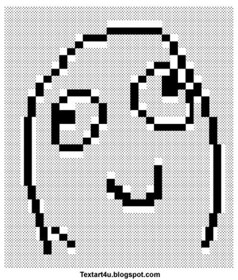 Meme Faces In Text Form - quot derp smile meme face quot text art cool ascii text art 4 u
