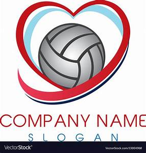 love, volleyball, logo, royalty, free, vector, image
