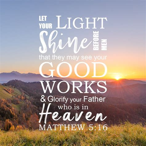 light for the day inspirational verse of the day let your light shine