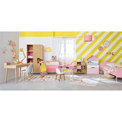 tapis enfant marelle en coton rose    cm happy maisons du monde
