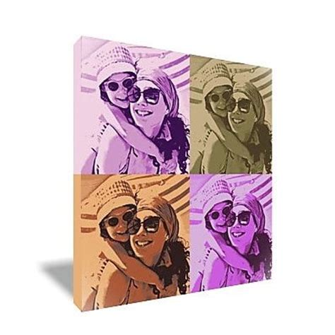 toile pop personnalisee toile personnalis 233 e carr 233 e pop avec 4 portraits amikado