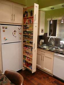 Tiered White Wall Mount Pantry Cabinet In Sliding Kitchen