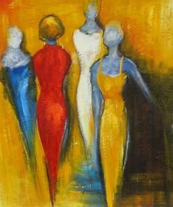 Tableau Peinture Moderne : tableau peinture moderne femmes arts modernes peinture huile ~ Teatrodelosmanantiales.com Idées de Décoration