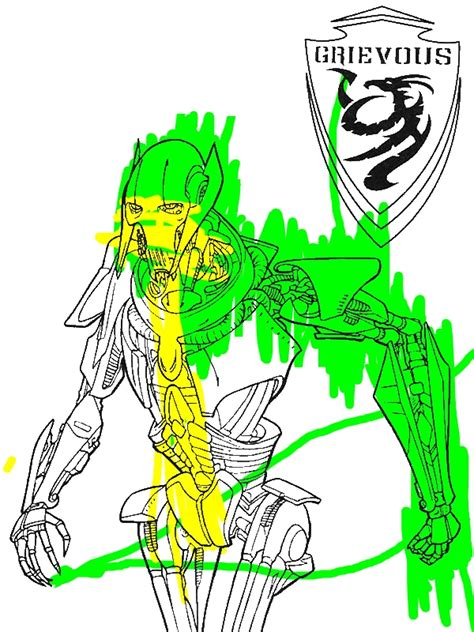 general grievous  star wars coloring page