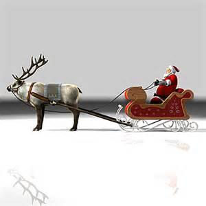 Santa Sleigh with Reindeer