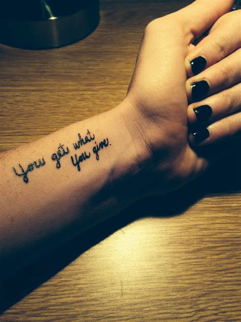 wrist tattoo cute tattoo quote tattoo