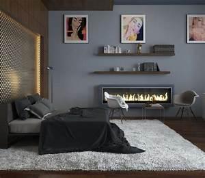 teppichboden grau schlafzimmer harzitecom With balkon teppich mit tapete grau schlafzimmer