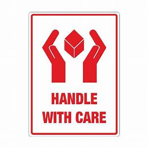 Handle with care labels | Packaging2Buy | adhesive ...