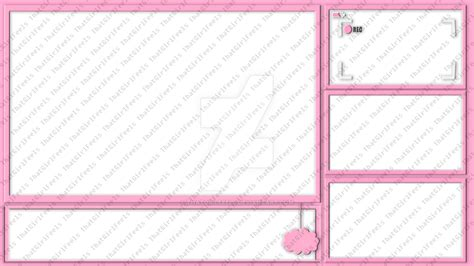 twitch overlay template girls twitch overlay layout thatgirlfeels by thatgirlfeels