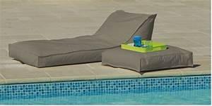 Matelas De Bain De Soleil : transat matelas extrieur impermeable bain de soleil taupe ~ Teatrodelosmanantiales.com Idées de Décoration
