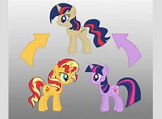 Pony Fusion Sunset Shimmer And Twilight by Willemijn1991