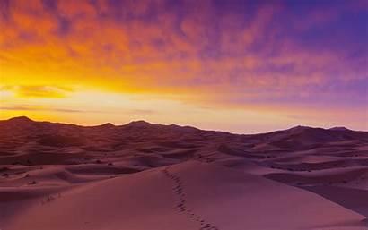 Desert Sunrise Sahara Sand Dunes Morocco Purple