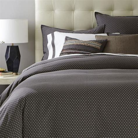 star geo grey duvet cover  shams