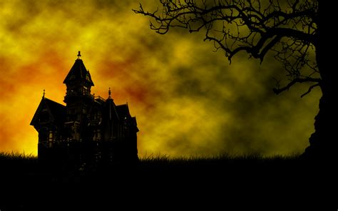 Background Haunted House by Background With Haunted House Scary And Creepy Pictures