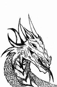 Dragon Black And White - Clipart library