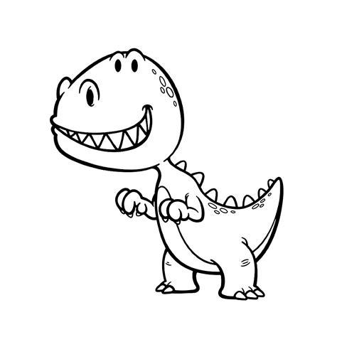 Kleurplaat Dino Rex by Leuk Voor Dinos 0021