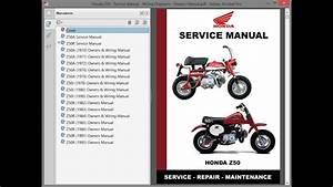 Honda Z50 - Service Manual    Repair Manual - Wiring Diagrams - Owners Manual