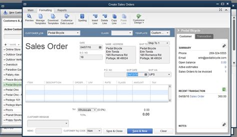 quickbooks   track  pre orders
