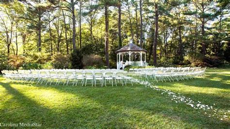 cape fear botanical garden wedding ceremony reception