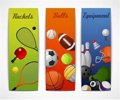 Vertical Sports Banners Sport Tennis Vector Squash
