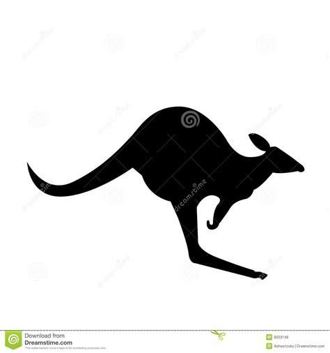 kangaroo vector silhouette royalty  stock