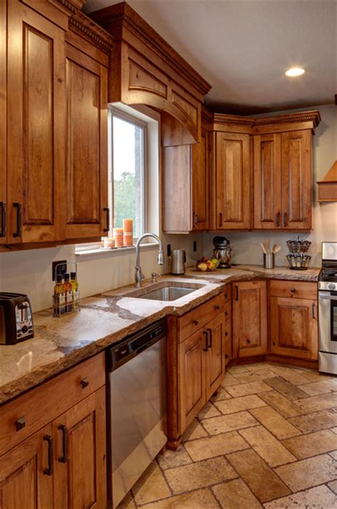 wood floor kitchens rustic cherry traditional kitchen salt lake city 1131