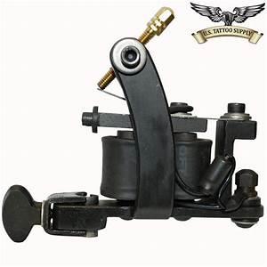Black Iron Left Handed Mini Bulldog Tattoo Machine