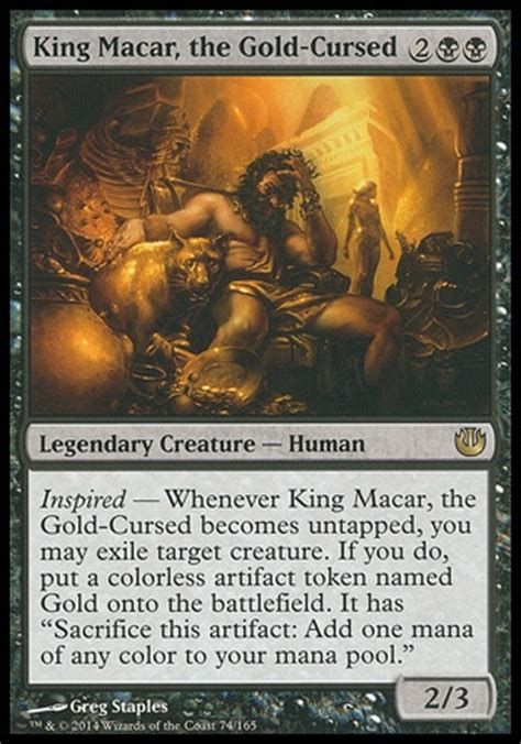 Edh Colorless Non Artifact Deck by Toonamiguy S King Macar The Gold Cursed Edh Artifact