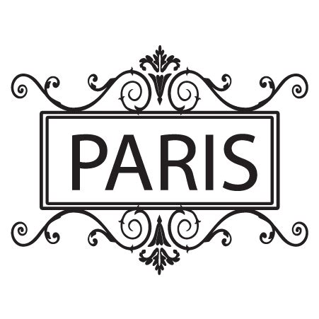 paris ornate frame wall quotes decal wallquotescom