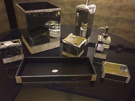 new 7pc bella lux mirrored crystal rhinestone bathroom