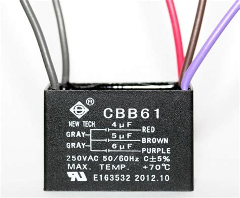 ceiling fan capacitor cbb61 4uf 5uf 6uf 5 wire ebay