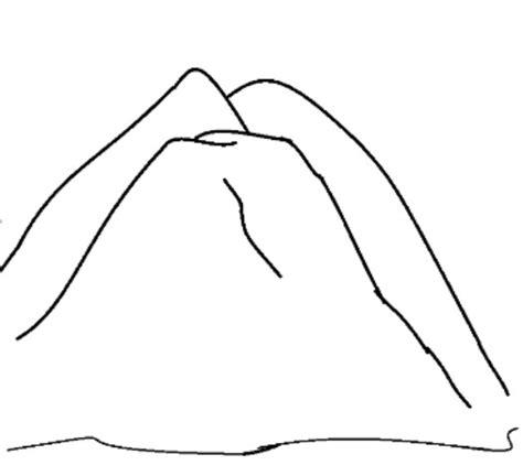 coloriage montagne pour enfant facile dessin gratuit